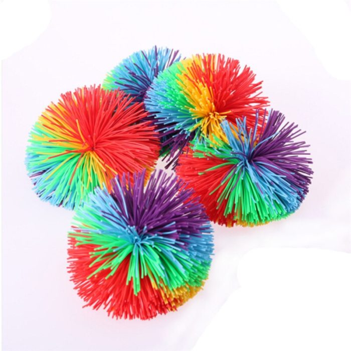 Anti-Stress 6cm/9cm Rainbow Fidget Sensory Ball Baby Funny Stretchy Ball Stress Relief Kids Autism Special Needs 6