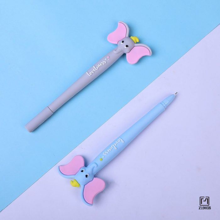 1 Pcs Lytwtw's Cute Kawaii Cartoon Creative Ear Flying Elephant Office School Gel Pen sweet pretty funny Stationery lovely  6