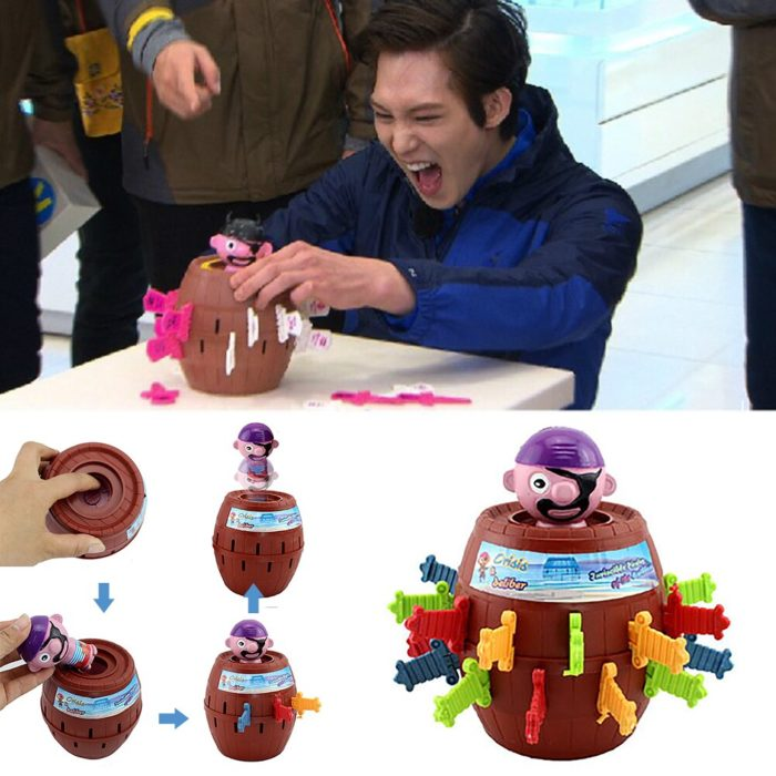 Funny Novelty Kids Children Funny Lucky Game Gadget Jokes Tricky Pirate Barrel Game NTDIZ1040 3