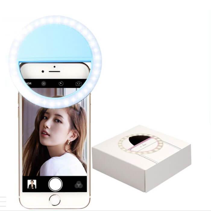 Rovtop USB charge LED Selfie Ring Light for Iphone Supplementary Lighting Selfie Enhancing Fill Light For Phones 5