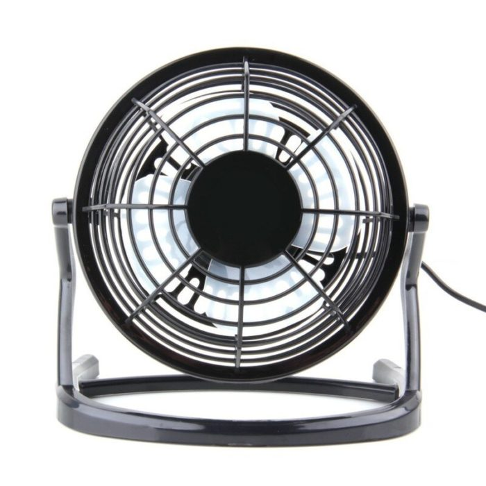 USB Gadget Portable USB Mini Fans Small Desk 4 Blades Cooler Cooling Fan DC 5V Operation Super Mute Silent PC Laptop Notebook 4