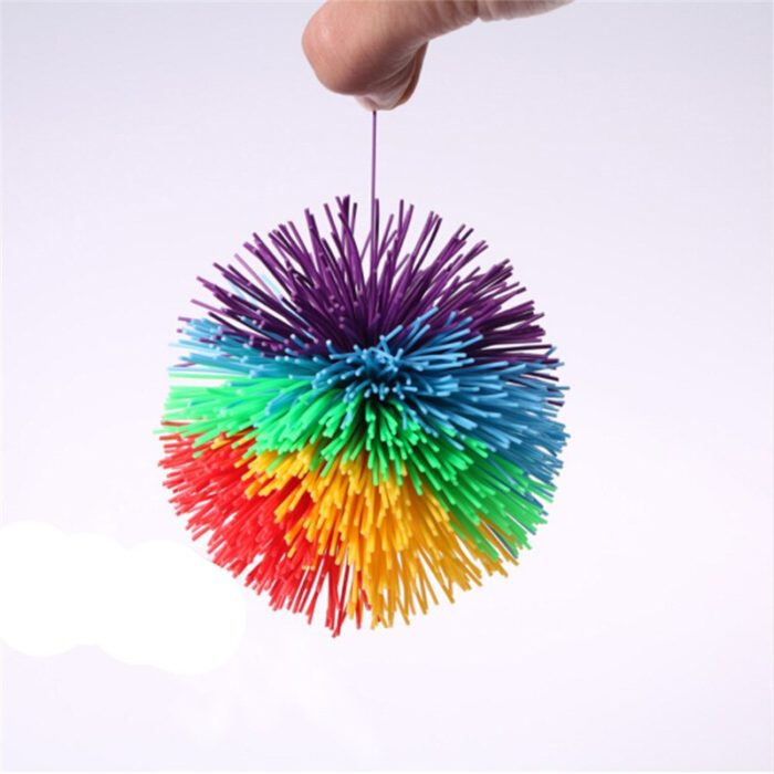 Anti-Stress 6cm/9cm Rainbow Fidget Sensory Ball Baby Funny Stretchy Ball Stress Relief Kids Autism Special Needs 5