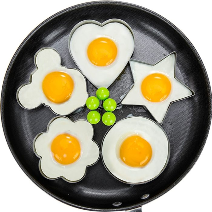 Stainless Steel 5Style Fried Egg Pancake Shaper Omelette Mold Mould Frying Egg Cooking Tools Kitchen Accessories Gadget Rings 1