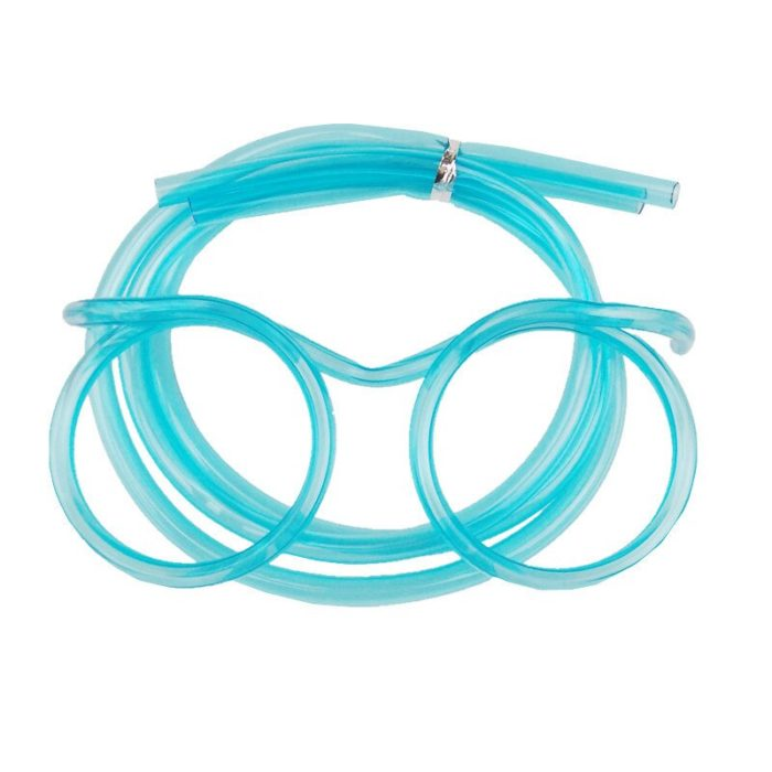 1PC Fun Soft Plastic Straw Funny Glasses Flexible Drinking Toys Party Joke Tube Tools Kids Baby Birthday Party Funny Gadgets 4