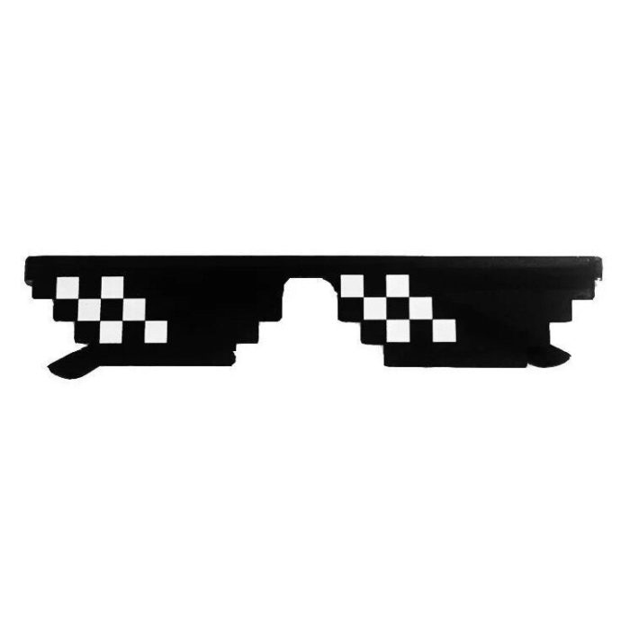 Gags Mosaic Sunglasses Trick Toy Thug Life Glasses Deal With It Glasses Pixel Women Men Black Mosaic Sunglasses Funny toy 6