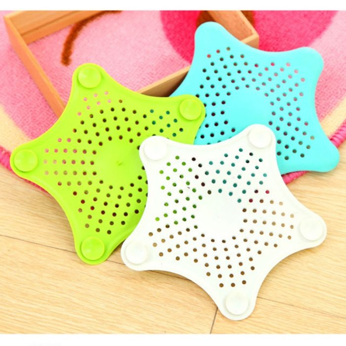 HOT Star Silicone Sink Strainers Sewer Outfall Filter Sewer Drain Hair Colander Bathroom Cleaning Kitchen Gadgets Accessories 4