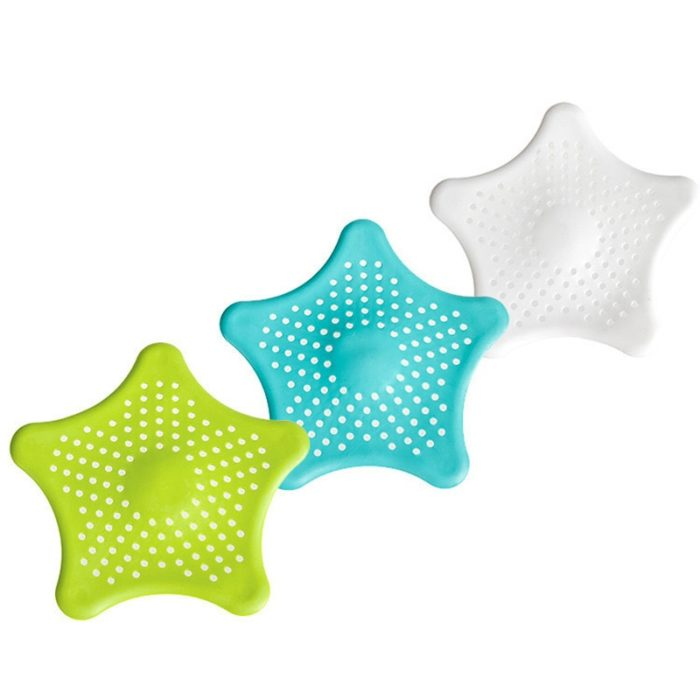 HOT Star Silicone Sink Strainers Sewer Outfall Filter Sewer Drain Hair Colander Bathroom Cleaning Kitchen Gadgets Accessories 5