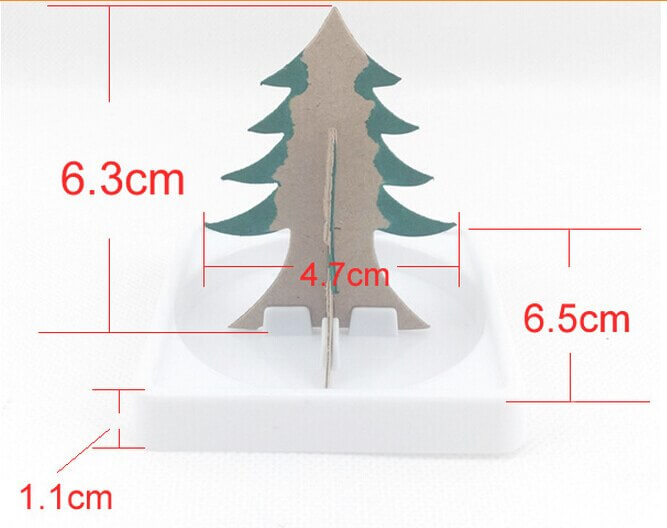 2019 9x6cm Multicolor Magic Growing Paper Tree Toy Magical Grow Christmas Trees Funny Educational Kids Science Toys For Children 3