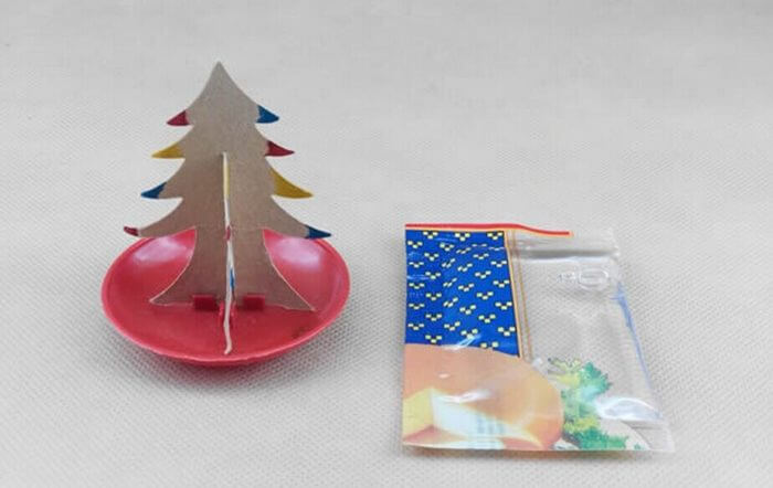 2019 9x6cm Multicolor Magic Growing Paper Tree Toy Magical Grow Christmas Trees Funny Educational Kids Science Toys For Children 4