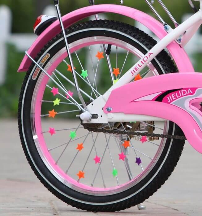36PCS Bicycle Wheel Spoke Plastic Beads Multi Color Children Clips Decoration Bike Colorful Baby Kid Gifts Cycling Accessories 2