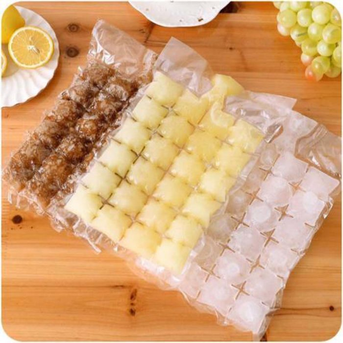 New 10 Pcs Ice Cube Mold Self-Seal Ice Cube Bags Transparent Disposable Faster Freezing Maker Ice-making Bag Kitchen Gadgets 1