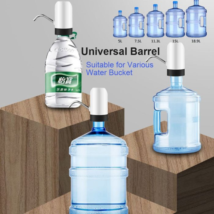 Home Gadgets Water Bottle Pump Mini Barreled Water Electric Pump USB Charge Automatic Portable Water Dispenser Drink Dispenser 3