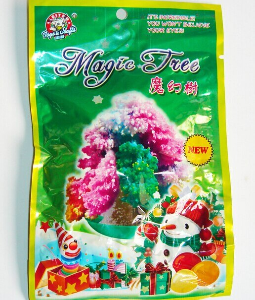 2019 9x6cm Multicolor Magic Growing Paper Tree Toy Magical Grow Christmas Trees Funny Educational Kids Science Toys For Children 6