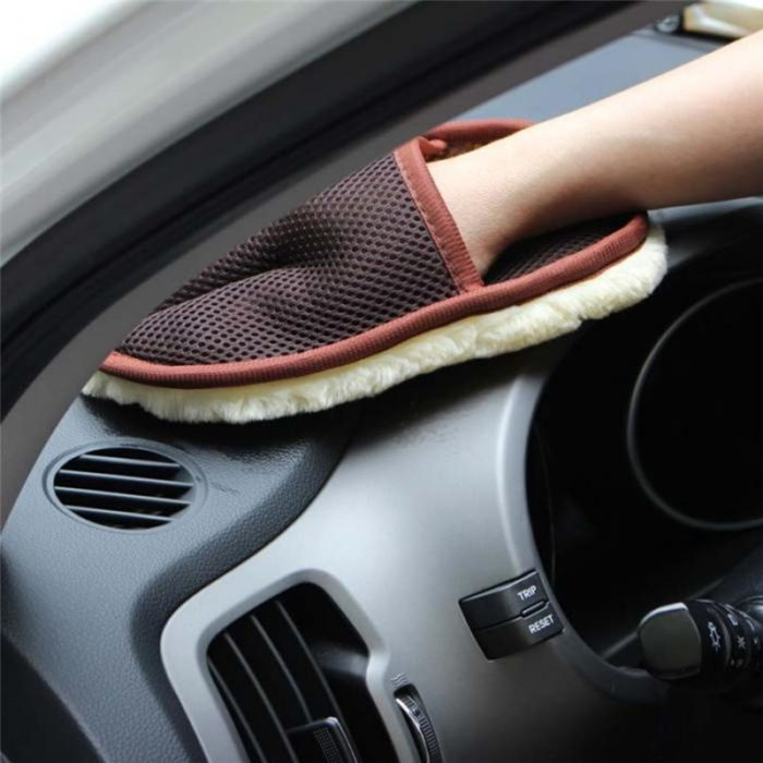 Car Styling 15*24cm Automotive Car Cleaning Car Brush Cleaner Wool Soft Car Washing Gloves Cleaning Brush Motorcycle Washer Care 1