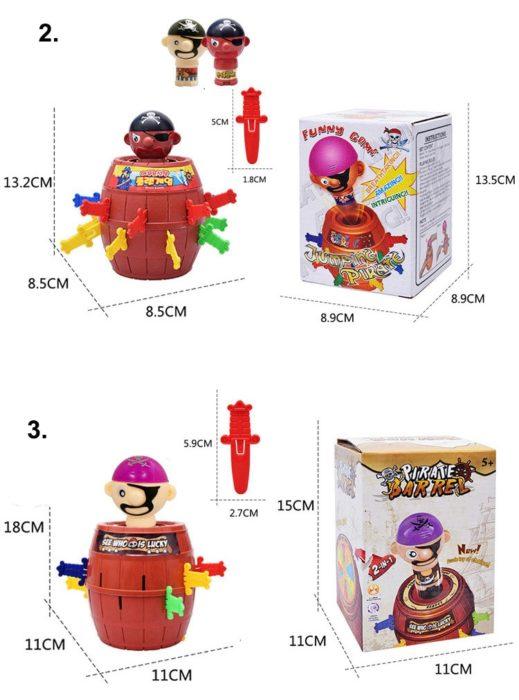 Funny Novelty Kids Children Funny Lucky Game Gadget Jokes Tricky Pirate Barrel Game NTDIZ1040 21