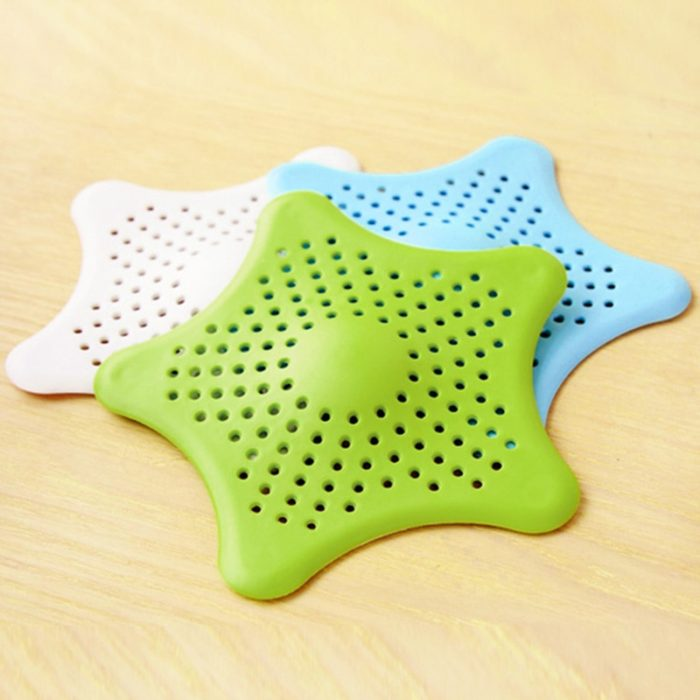 HOT Star Silicone Sink Strainers Sewer Outfall Filter Sewer Drain Hair Colander Bathroom Cleaning Kitchen Gadgets Accessories 6