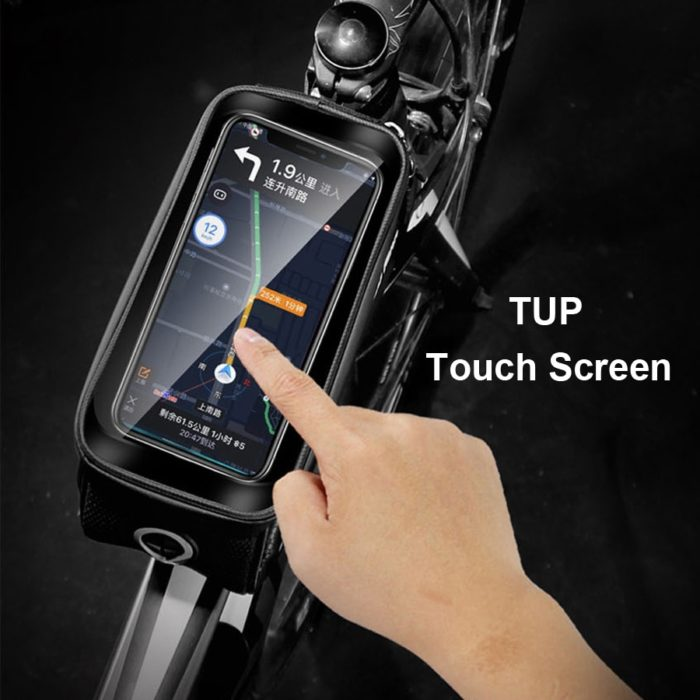 WILD MAN Rainproof Bicycle Bag Frame Front Top Tube Cycling Bag Reflective 6.5in Phone Case Touchscreen Bag MTB Bike Accessories 4