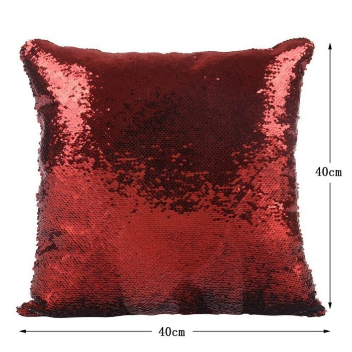 Super Shining Trump Reversible Color Changing Pillow Case Magical Nicolas Cage Cushion Cover With Sequins Pillow Cover 40x40cm 6