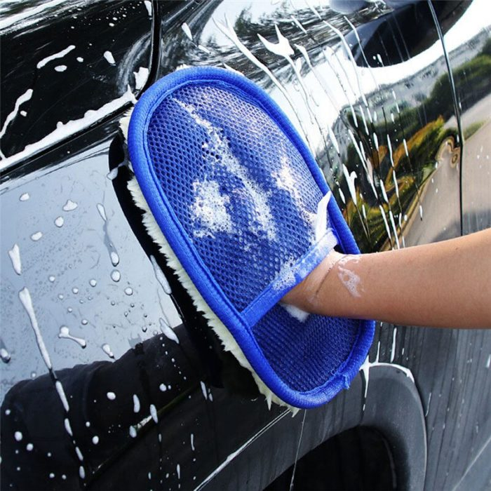 Car Styling 15*24cm Automotive Car Cleaning Car Brush Cleaner Wool Soft Car Washing Gloves Cleaning Brush Motorcycle Washer Care 4
