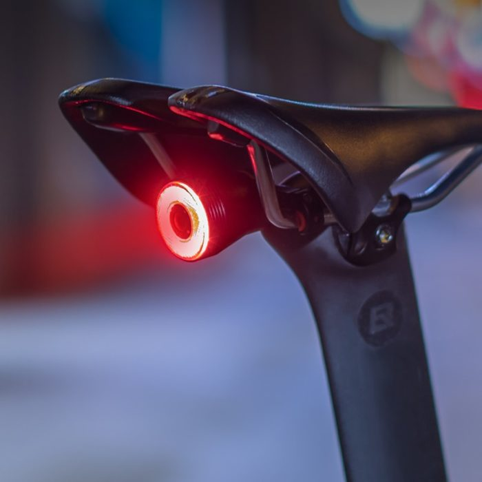 ROCKBROS Bicycle Smart Auto Brake Sensing Light IPx6 Waterproof LED Charging Cycling Taillight Bike Rear Light Accessories Q5 6