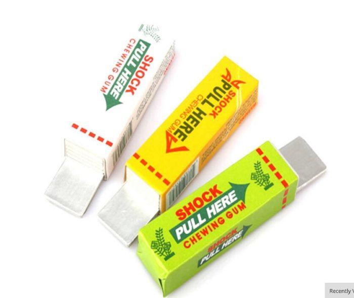 Electric Shock Joke Chewing Gum Pull Head Shocking Toy Gift Gadget Prank Trick Gag Funny 5