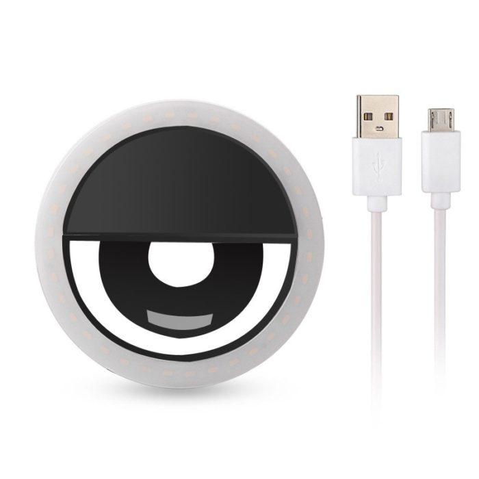 Rovtop USB charge LED Selfie Ring Light for Iphone Supplementary Lighting Selfie Enhancing Fill Light For Phones 2