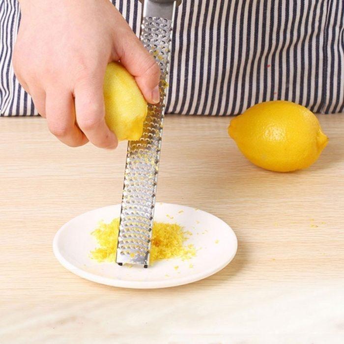 New Stainless Lemon Cheese Vegetable Zester Grater Peeler Slicer Kitchen Tool Gadgets Fruit Vegetable Chopper 4