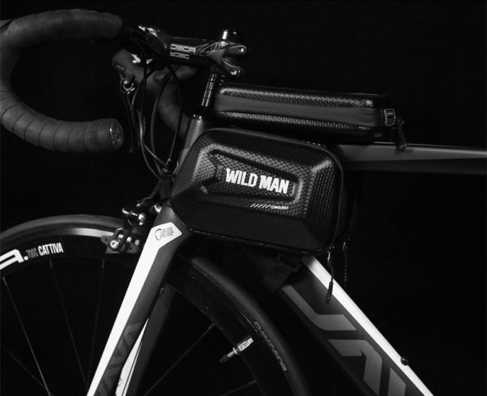 WILD MAN Rainproof Bicycle Bag Frame Front Top Tube Cycling Bag Reflective 6.5in Phone Case Touchscreen Bag MTB Bike Accessories 47