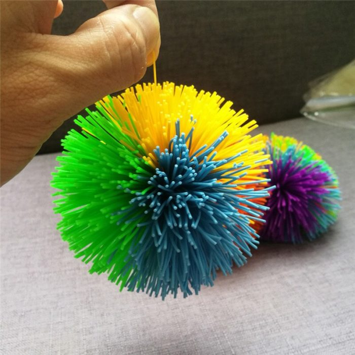 Anti-Stress 6cm/9cm Rainbow Fidget Sensory Ball Baby Funny Stretchy Ball Stress Relief Kids Autism Special Needs 3