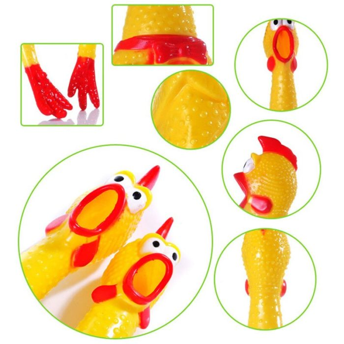 32cm 17cm Screaming Chicken Squeeze Sound Toy Pets Toy Product Dog Toys Shrilling Decompression Tool Funny Gadgets 5