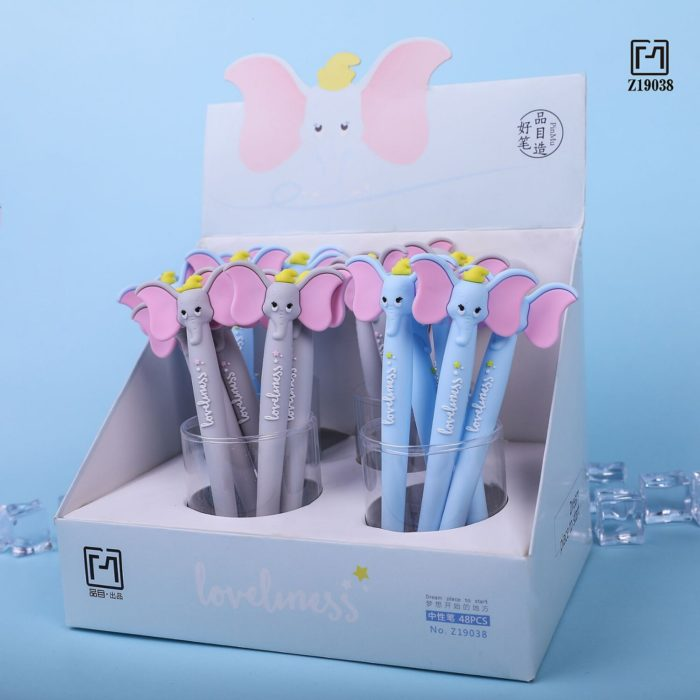 1 Pcs Lytwtw's Cute Kawaii Cartoon Creative Ear Flying Elephant Office School Gel Pen sweet pretty funny Stationery lovely  4