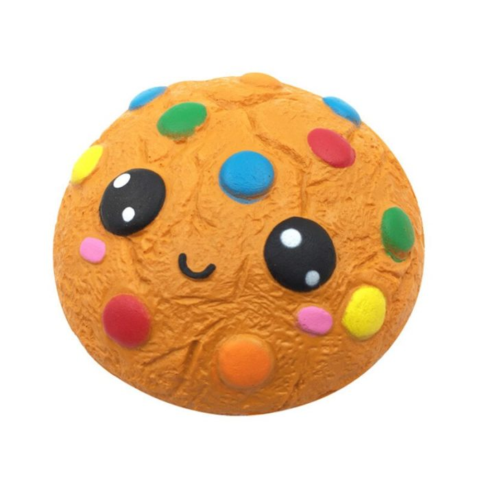 Jumbo Chocolate Biscuits Cheese Cute Squishy Slow Rising Soft Squeeze Toy Phone Strap Scented Relieve Stress Funny Kid Xmas Gift 4