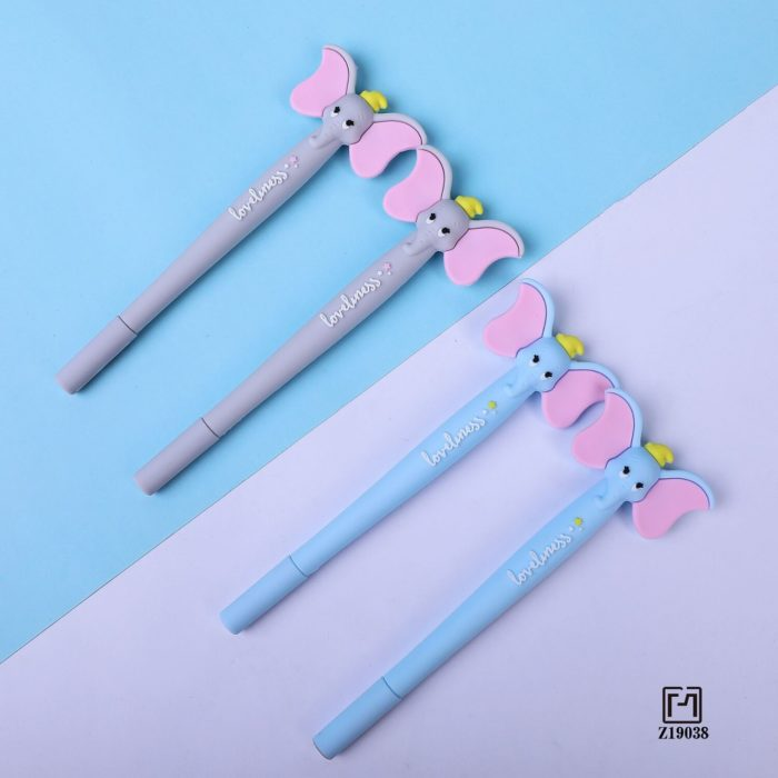 1 Pcs Lytwtw's Cute Kawaii Cartoon Creative Ear Flying Elephant Office School Gel Pen sweet pretty funny Stationery lovely  3