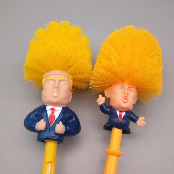 Creative Donald Trump Brush Toilet Supplies Set Brush Holders Wc Original Toilet Paper Bathroom Cleaning Accessories personality 3