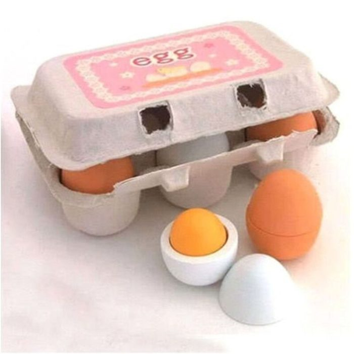 2019 Newest Arrivals 6PCS Eggs Yolk Pretend Play Kitchen Food Cooking Kids Children Baby Toy Funny Gift For Baby kids 6