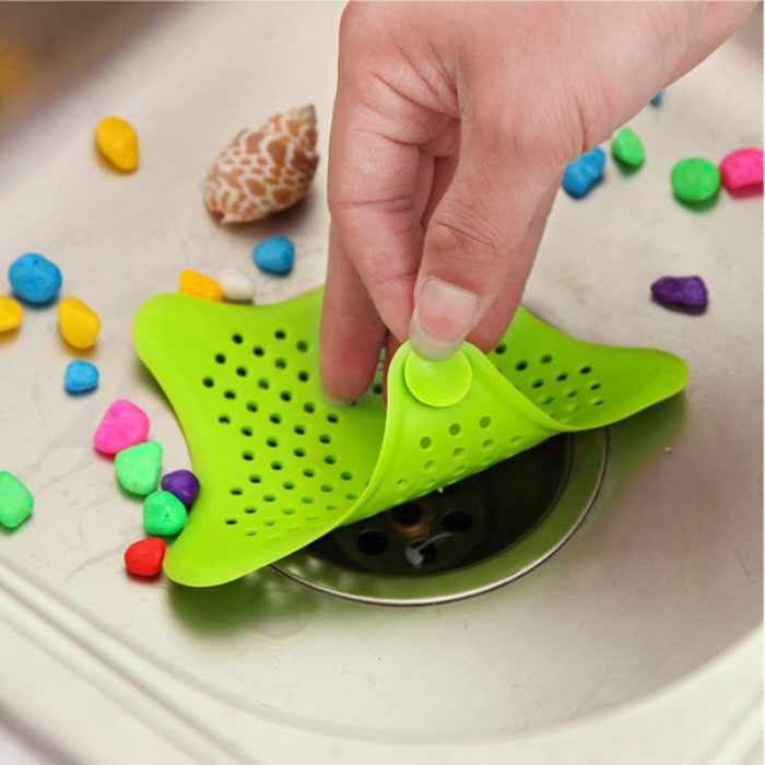 HOT Star Silicone Sink Strainers Sewer Outfall Filter Sewer Drain Hair Colander Bathroom Cleaning Kitchen Gadgets Accessories 1