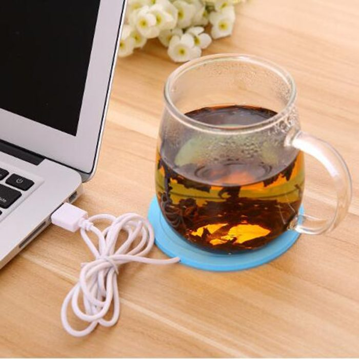 USB Warmer Gadget Cartoon Silicone thin Cup-Pad Coffee Tea Drink usb Heater Tray Mug Pad nice Gift 12