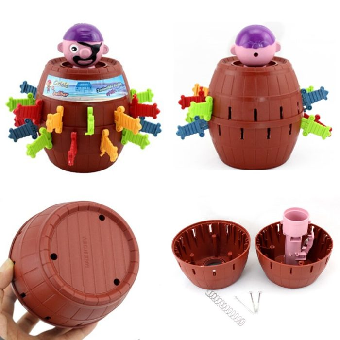 Funny Novelty Kids Children Funny Lucky Game Gadget Jokes Tricky Pirate Barrel Game NTDIZ1040 5
