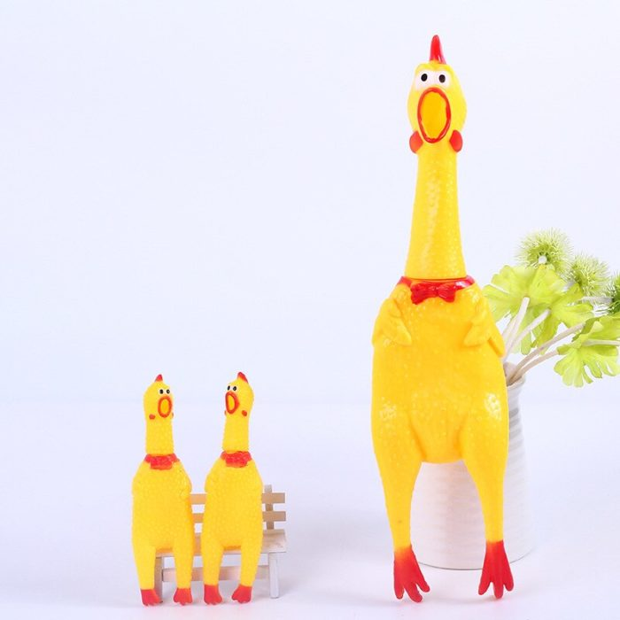 32cm 17cm Screaming Chicken Squeeze Sound Toy Pets Toy Product Dog Toys Shrilling Decompression Tool Funny Gadgets 2